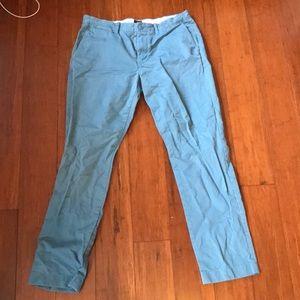 J Crew Broken in Chino (turquoise) 34 x 32